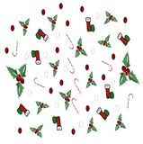 Seamless Design pattern with Christmas Items royalty free stock image