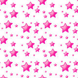 Seamless design with pink stars Royalty Free Stock Photography
