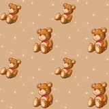A seamless design with teddy bears Stock Photography