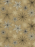 Seamless design wrapping paper. Seamless design natural wrapping paper with flower contour Stock Photo