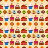 Seamless dessert background. Stock Image
