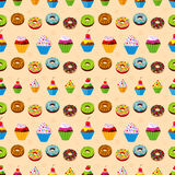 Seamless dessert background. Royalty Free Stock Photo