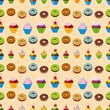 Seamless dessert background. stock illustration