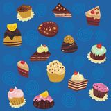 Seamless Desserts Pattern Royalty Free Stock Image