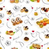Seamless desserts Stock Image
