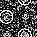 Seamless Detailed Wallpaper Pattern stock photography