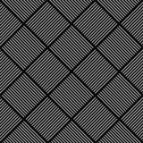 Seamless diagonal checked texture. Stock Photography