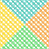 Seamless diagonal gingham pattern in four colors. Seamless pattern made of four colorful diagonal gingham pattern in yellow,orange, blue and green, to be used vector illustration