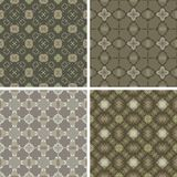 Seamless diagonal matrix. Several light cross textile patterns for your seamless Royalty Free Stock Images