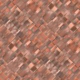 Seamless diagonal mosaic background in brown spectrum Stock Images