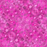 Seamless diagonal mosaic background in pink Royalty Free Stock Photo