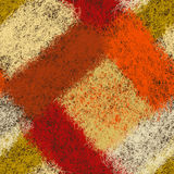 Seamless diagonal pattern with colorful woven hairy rectangulars Stock Images