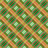Seamless diagonal pattern in green and red Stock Photography