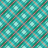 Seamless diagonal pattern in violet, turquoise and red Royalty Free Stock Image