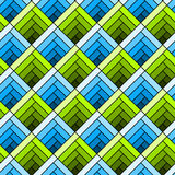 Seamless diagonal squares tile pattern Stock Photos