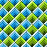 Seamless diagonal squares tile pattern Stock Photos