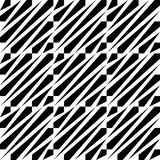 242-10. Seamless Diagonal Stripe Pattern. Vector Black and White Background Royalty Free Stock Photography