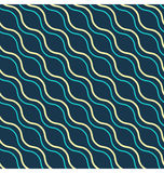 Seamless diagonal wave abstract pattern Royalty Free Stock Image