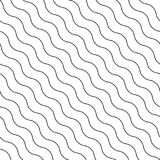 Seamless diagonal wavy vector pattern. Stock Images