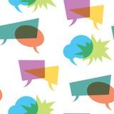 Seamless dialog clouds. Stock Photos