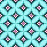 Seamless diamond circle colorful pattern Stock Image
