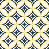 Seamless diamond circle wallpaper pattern Stock Image