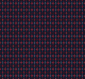 Seamless diamond and ellipses pattern red blue gray Royalty Free Stock Image