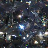 Seamless diamond macro triangles Stock Images