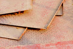 Seamless diamond metal plate Royalty Free Stock Image