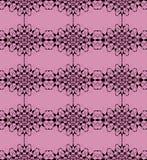 Seamless diamond pattern black on violet Royalty Free Stock Images
