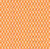 Seamless diamond pattern orange single color gradient Stock Images