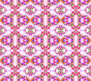 Seamless diamond pattern pink violet orange blue purple green. Abstract geometric seamless background. Ornate diamond pattern with elements in pink, violet Royalty Free Stock Photo