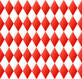 Seamless diamond pattern in red and white Stock Photo