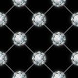 Seamless diamond pattern. Vector illustration Royalty Free Stock Images