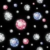 Seamless diamond pattern. Vector illustration Stock Photography