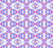 Seamless diamond pattern violet pink purple turquoise gray. Abstract geometric seamless background. Ornate diamond pattern light gray with elements in pink stock illustration