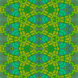 Seamless diamond pattern yellow orange green gray turquoise Royalty Free Stock Photo