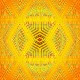 Seamless  diamond pattern yellow orange lime green Royalty Free Stock Photos
