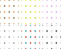 Seamless diamond patterns. Set of 6 isolated seamless diamond (special rhombus) patterns in different colors Royalty Free Stock Photos