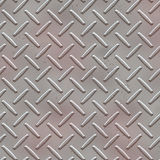 Seamless Diamond plate texture Stock Photos