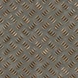 Seamless diamond steel background Stock Photos