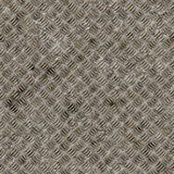 Seamless diamond steel plate texture. Royalty Free Stock Image