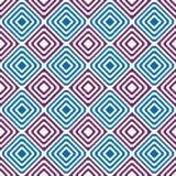 Seamless diamonds backgound pattern. Blue and purple diamonds or squares geometric pattern. Seamless Tile Stock Photography
