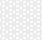 Seamless geometric pattern. 3D illusion. Seamless diamonds and hexagons pattern. 3D optical illusion. Geometric texture. Vector art Stock Images