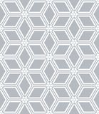 Seamless diamonds and hexagons pattern. Geometric texture. Stock Image