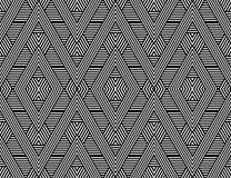 Seamless diamonds and hexagons pattern. Stock Photography