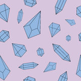 Seamless diamonds pattern. Royalty Free Stock Images