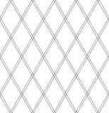 Seamless diamonds pattern. Geometric lattice texture. Stock Photography