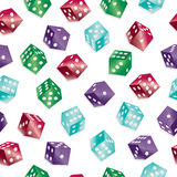 Seamless dice pattern Stock Images