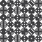 Seamless dice pattern Stock Image